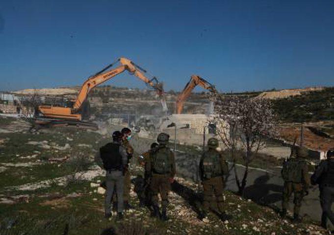 القدس: الاحتلال يهدم حضانة أطفال في بيت صفافا