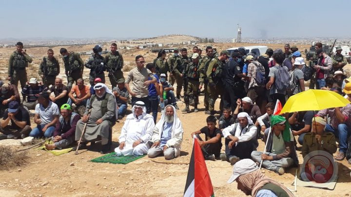 اصابات بالاختناق خلال قمع الإحتلال لاعتصام  شرق يطا