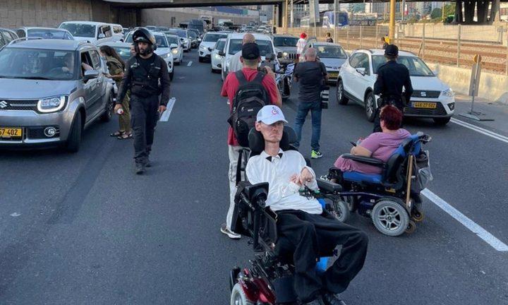 """تجدد احتجاجات ذوي الاحتياجات الخاصة في """"إسرائيل"""""""