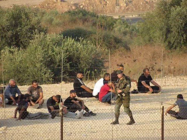 الاحتلال يحتجز عشرات العمال الفلسطينيين جنوب طولكرم