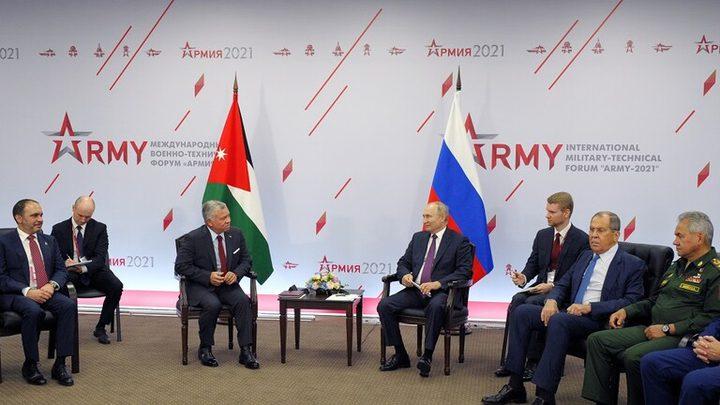 الملك عبد الله وبوتين يبحثان الأوضاع في سوريا وأفغانستان