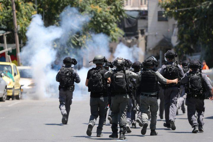نابلس:الاحتلال يقمع فعالية ضد شق طريق استيطاني في بيتا