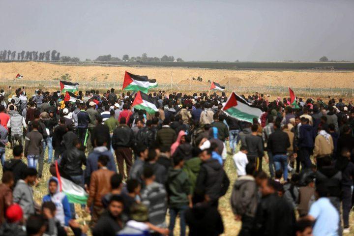 غزة:إصابات خلال قمع قوات الاحتلال تظاهرة سلمية شرق خانيونس