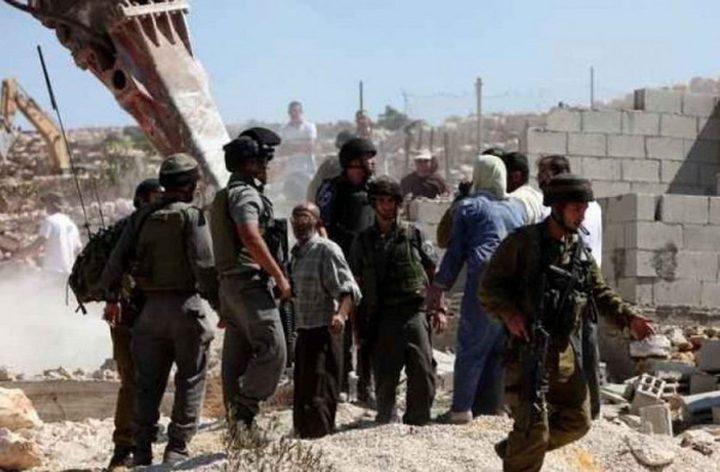 الاحتلال يوقف العمل بترميم خزان للمياه شرق نابلس