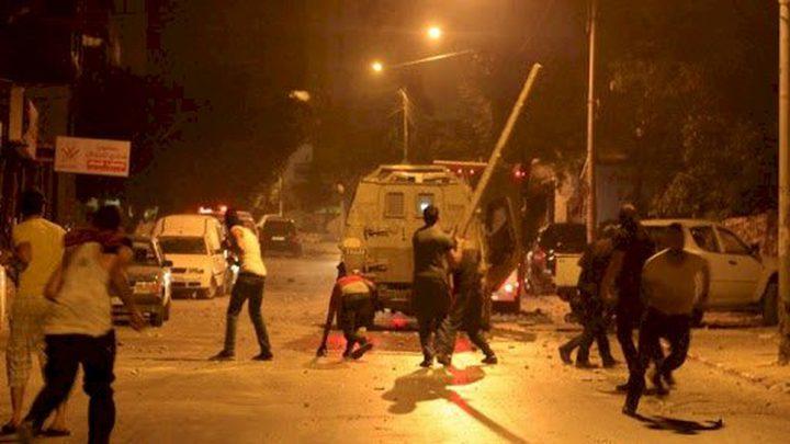 إصابات خلال مواجهات مع الاحتلال في بلدة يعبد