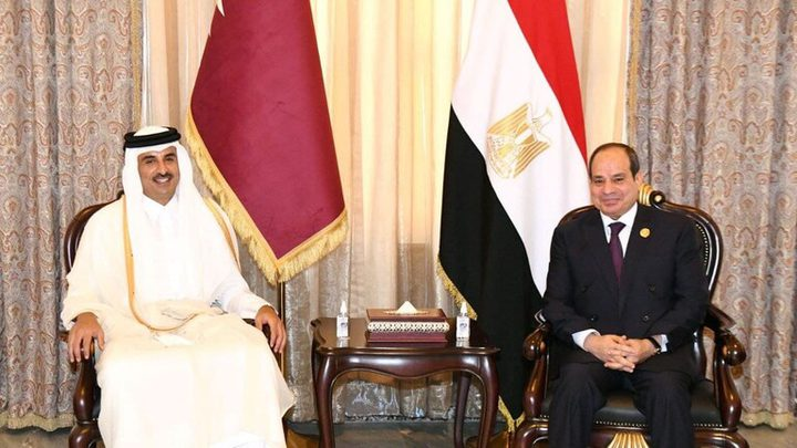 السيسي وأمير قطر يتفقان على استئناف التعاون