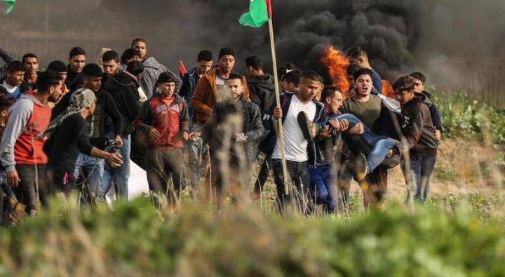 إصابات بالاختناق خلال قمع الاحتلال تظاهرة سلمية شرق رفح