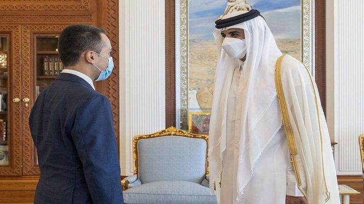 أمير قطر يبحث مع وزير الخارجية الإيطالي الوضع في أفغانستان