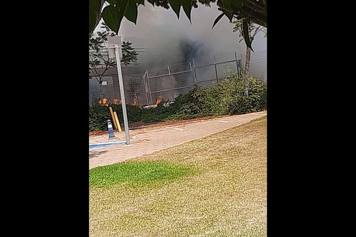 اندلاع حريق قرب غلاف غزة بفعل بالونات حارقة