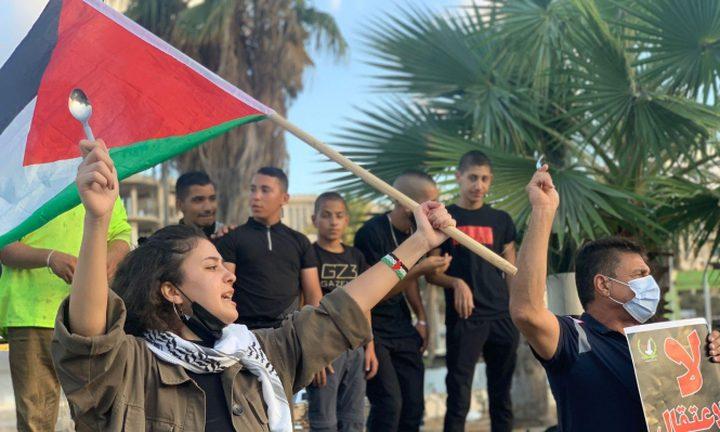 أهالي حيفا وأم الفحم يتظاهرون رفضا للاعتداء على الأسرى