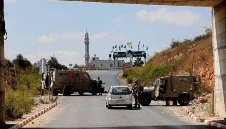 الاحتلال يعيق حركة المواطنين على مدخل رامين شرق طولكرم