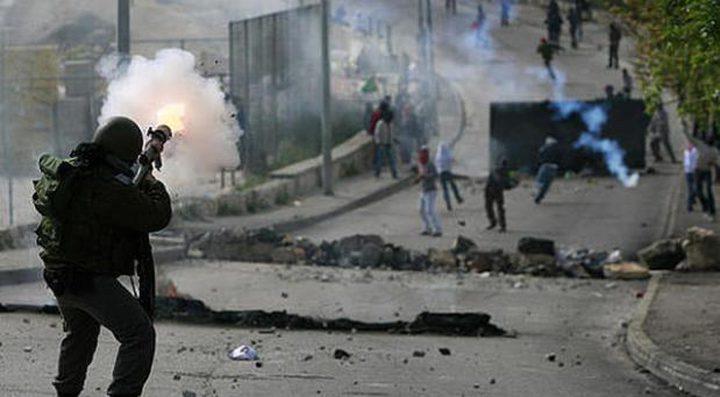 بيت لحم:اصابات خلال مواجهات مع الاحتلال خلال تظاهرة مساندة للأسرى