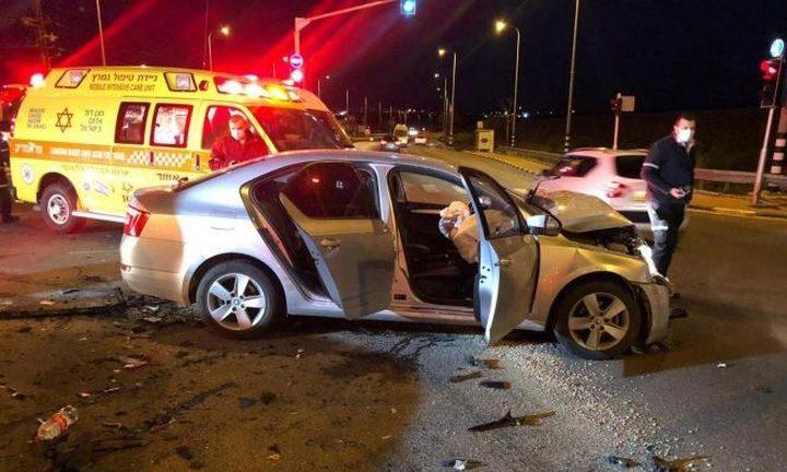 إصابة 3 أشخاص بحادث طرق في رهط
