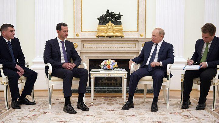 بوتين يشير إلى قفزة في التجارة مع سوريا