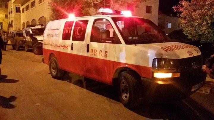 حادث انقلاب ذاتي لمركبة جنوب غزة