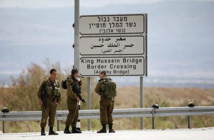 الاحتلال يحبط  محاولة تهريب أسلحة على الحدود الأردنية