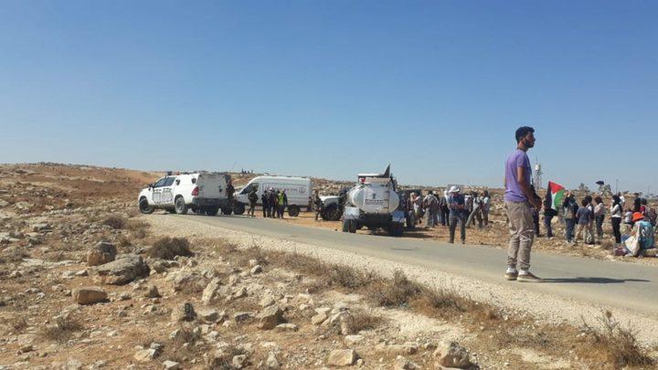 إصابات و اعتقالات خلال مسيرة سلمية شرق يطا
