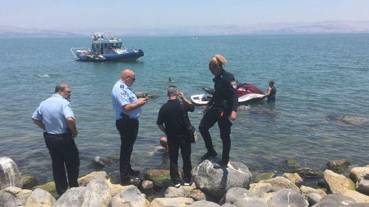مصرع شاب غرقا في مياه بحيرة طبريا