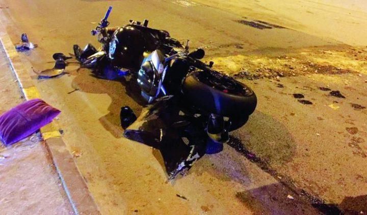 مصرع سائق دراجة نارية في حادث سير ذاتي
