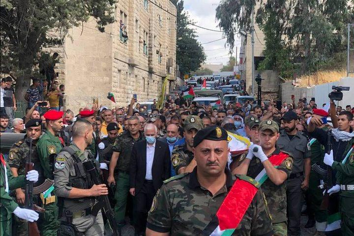 تشييع جثمان الشهيد حسين مسالمة في بيت لحم
