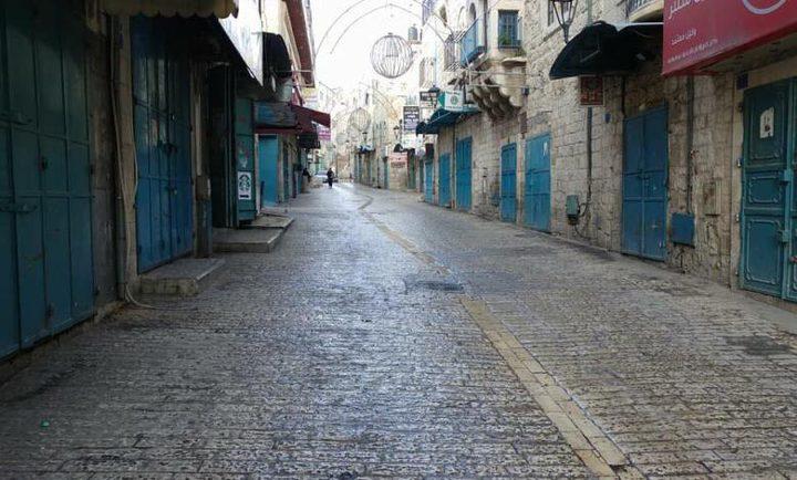الاضراب يعم محافظة بيت لحم