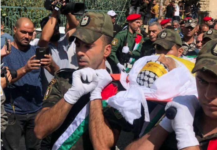 جماهير بيت لحم تشيع جثمان الشهيد حسين مسالمة إلى مثواه الأخير