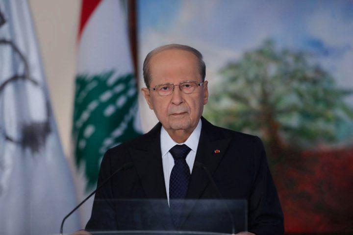 الرئيس عون يؤكد ضرورة حل القضية الفلسطينية