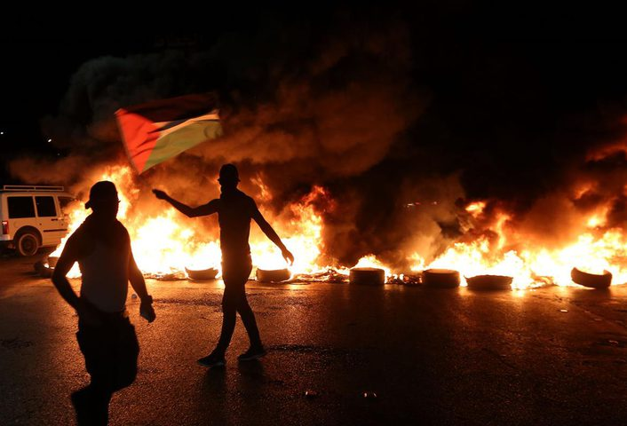 اندلاع مواجهات مع قوات الاحتلال في حوسان غرب بيت لحم