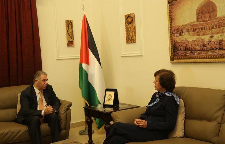 سفيرنا بلبنان يستقبل المنسقة الخاصة للأمم المتحدة في بيروت