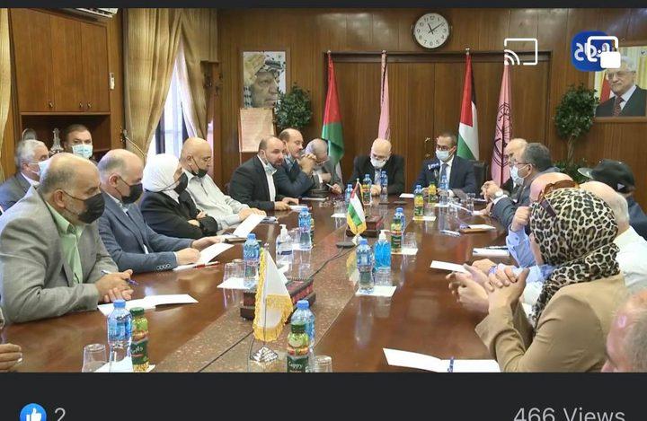 مؤسسات محافظة نابلس تتضامن مع النجاح وتشكل لجنة متابعة