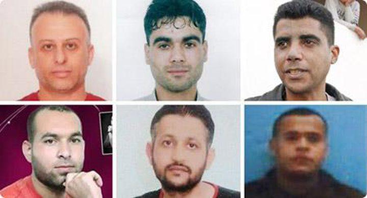 محاجنة: الأسرى الستة في زنازين انفرادية وظروف صعبة