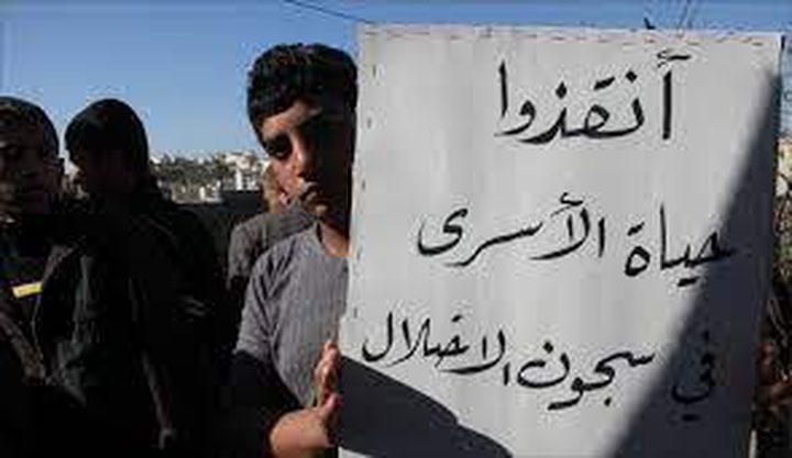 نابلس: اعتصام اسنادي للأسرى المضربين عن الطعام