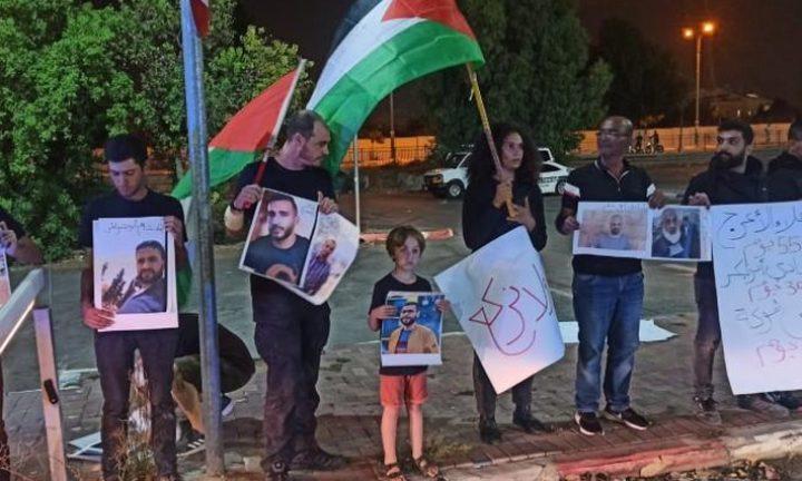شرطة الاحتلال تعتدي على مشاركين في وقفة إسناد للأسرى