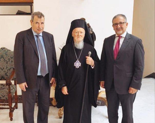 خوري يلتقي البطريرك المسكوني برثلماوس الأول في مالطا