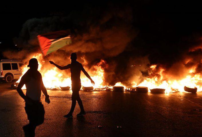إصابات خلال مواجهات مع الاحتلال على مفترق عرابة جنوب جنين
