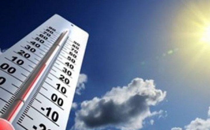 الطقس : أجواء حارة نسبياً والحرارة أعلى من معدلاتها السنوية