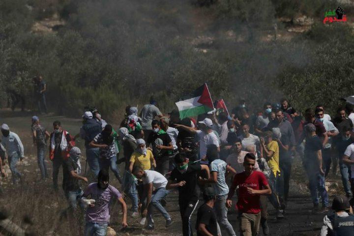 إصابة ثلاث مواطنين برصاص الاحتلال خلال مسيرة كفر قدوم الأسبوعية