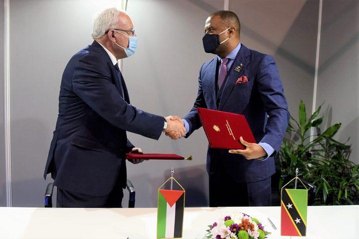 المالكي يوقع مع وزير خارجية سانت كيتس ونيفيس اتفاقية إلغاء الفيزا
