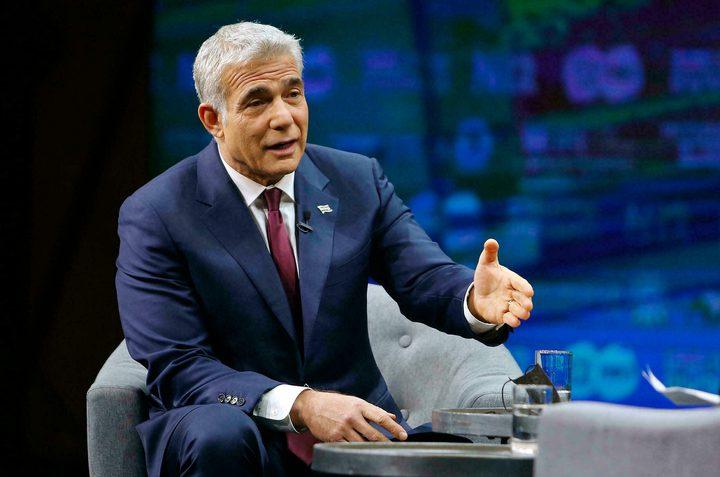 """لابيد يعرض على أميركا خطة """"إسرائيلية"""" لتحسين اقتصاد غزة"""